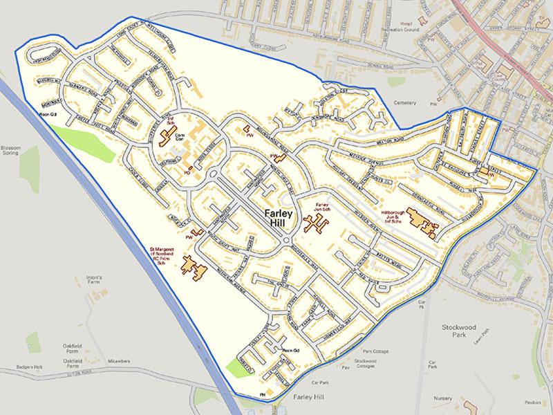 Farley Big Local Boundary Map