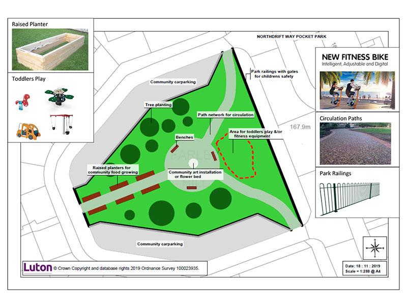 northdrift way pocket park