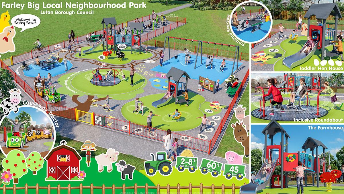 Farley Big Local Neighbourhood Park Option1 3D